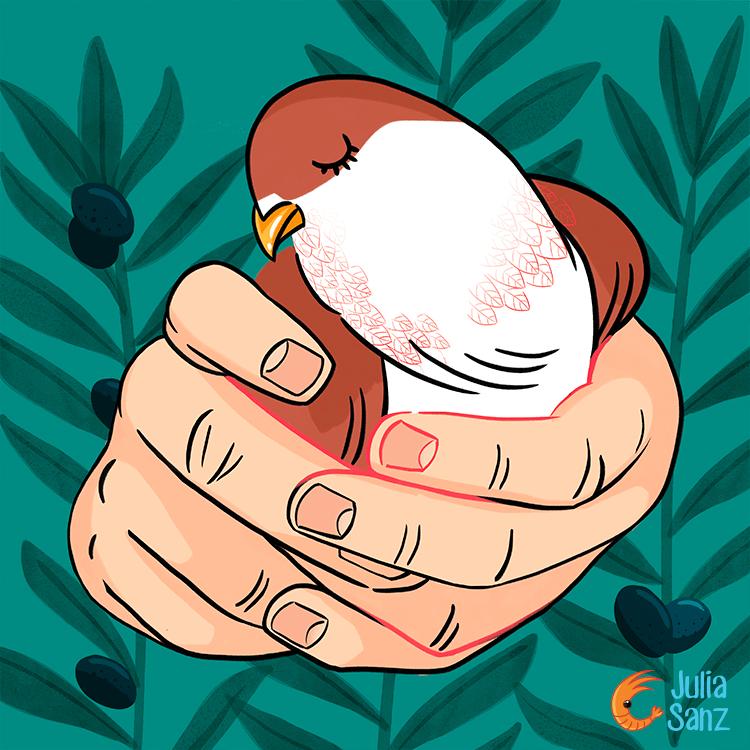 La paloma herida